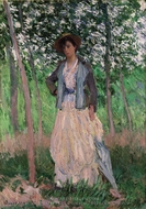 The Stroller (Suzanne Hoschede, later Mrs. Theodore Earl Butler) painting reproduction, Claude Monet