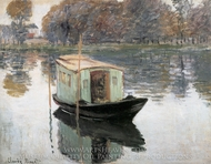 The Studio Boat painting reproduction, Claude Monet