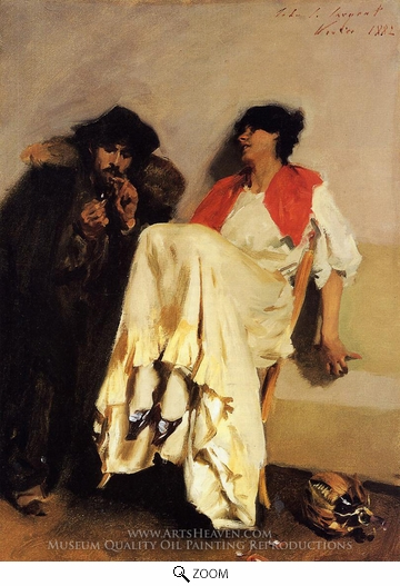 Painting Reproduction of The Sulphur Match, John Singer Sargent