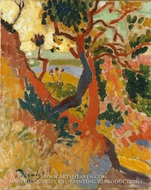 The Sunken Path, L'Estaque by Andre Derain