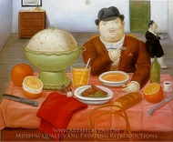 The Supper painting reproduction, Fernando Botero