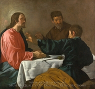 The Supper at Emmaus painting reproduction, Diego Velazquez