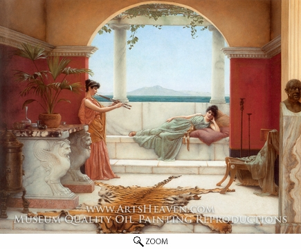 Painting Reproduction of The Sweet Siesta of a Summer Day, John William Godward