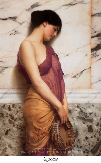 Painting Reproduction of The Tambourine Girl, John William Godward
