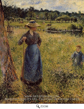 Painting Reproduction of The Tedder, Camille Pissarro