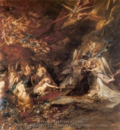 The Temptation of Saint Anthony painting reproduction, Eugene Isabey