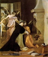 The Temptation of Saint Thomas Acquinas painting reproduction, Diego Velazquez