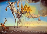 The Temptation of Saint Anthony painting reproduction, Salvador Dali (inspired by)