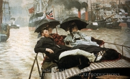 The Thames painting reproduction, James Tissot