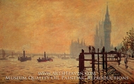 The Thames at Westminster by Claude Monet