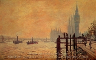 The Thames at Westminster painting reproduction, Claude Monet