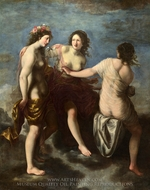 The Three Graces painting reproduction, Francesco Furini