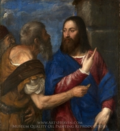 The Tribute Money painting reproduction, Titian