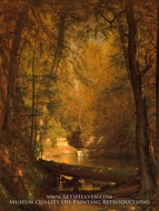 The Trout Pool by Worthington Whittredge