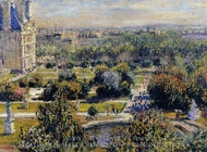The Tuileries painting reproduction, Claude Monet