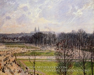 The Tuileries Gardens: Winter Afternoon by Camille Pissarro