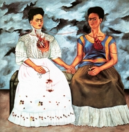 The Two Fridas painting reproduction, Frida Kahlo