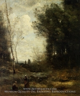 The Valley by Jean-Baptiste Camille Corot