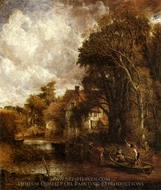 The Valley Farm painting reproduction, John Constable