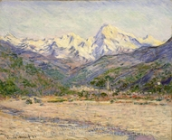 The Valley of the Nervia painting reproduction, Claude Monet