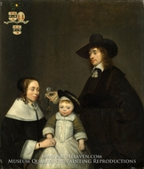 The Van Moerkerken Family by Gerard Ter Borch