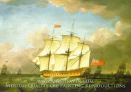 The Victory Leaving the Channel in 1793 painting reproduction, Monamy Swaine