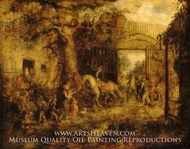 The Vigilant Stuyvesant's Wall Street Gate by John Quidor