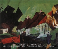 The Village of Alt-Sallenthin by Lyonel Feininger