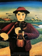 The Violin Player painting reproduction, Mikhail Dascalu