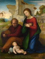 The Virgin Adoring the Child with Saint Joseph painting reproduction, Fra Bartolommeo