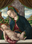 The Virgin and Child painting reproduction, Giovanni Santi