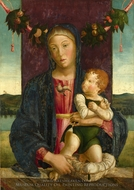 The Virgin and Child painting reproduction, Lazzaro Bastiani