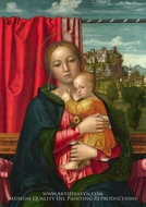 The Virgin and Child painting reproduction, Francesco Morone