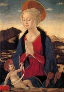 The Virgin and Child painting reproduction, Alesso Baldovinetti
