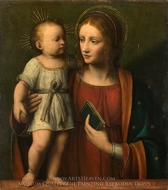 The Virgin and Child painting reproduction, Bernardino Luini