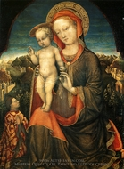 The Virgin and Child Adored by Leonello d'Este painting reproduction, Jacopo Bellini