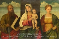The Virgin and Child and Saints painting reproduction, Francesco Bissolo