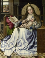 The Virgin and Child before a Fire Screen by Robert Campin