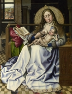 The Virgin and Child before a Fire Screen painting reproduction, Robert Campin