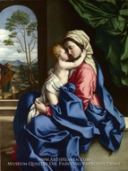 The Virgin and Child Embracing painting reproduction, Sassoferrato