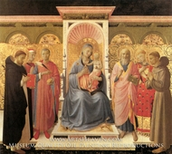 The Virgin and Child Enthrone by Fra Angelico