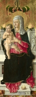 The Virgin and Child Enthroned painting reproduction, Giorgio Schiavone