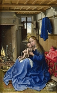 The Virgin and Child in an Interior by Robert Campin