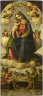 The Virgin and Child in Glory painting reproduction, Giovanni Battista Da Faenza