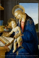 The Virgin and Child (The Madonna of the Book) painting reproduction, Sandro Botticelli