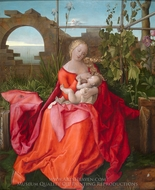 The Virgin and Child (The Madonna with the Iris) painting reproduction, Albrecht Durer