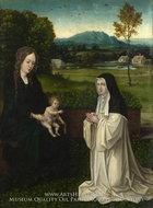 The Virgin and Child with a Cistercian Nun painting reproduction, Joachim Patinir