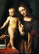 The Virgin and Child with a Columbine painting reproduction, Bernardino Luini