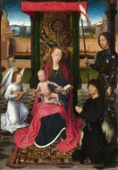 The Virgin and Child with an Angel painting reproduction, Hans Memling