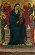 The Virgin and Child with Four Angels painting reproduction, Duccio Di Buonisegna